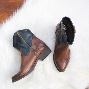 Mia western ankle boots